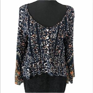 Patrons of Peace scoop neck blouse